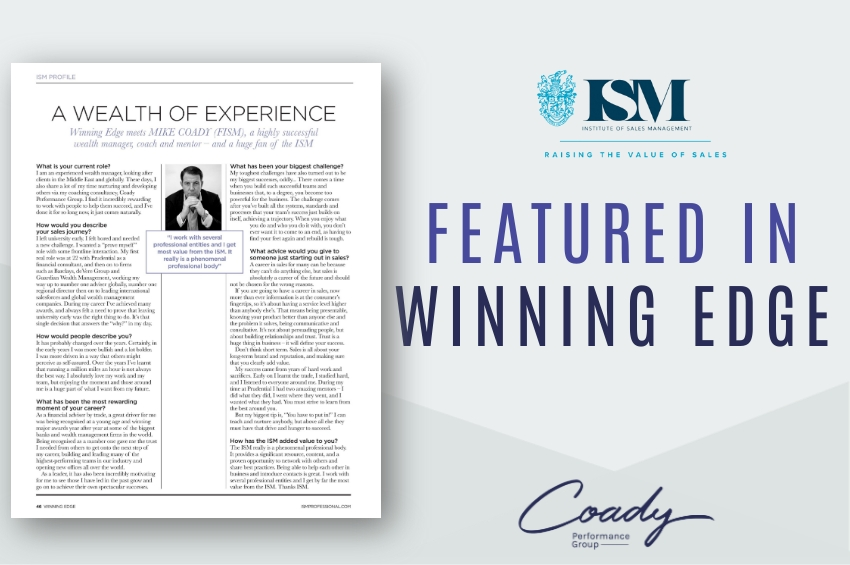 A Wealth Of Experience – Winning Edge meets Mike Coady (FISM)